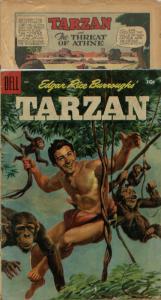 Tarzan  #70 (Dell, 1955) and another coverless Dell Tarzan comic (2 books)