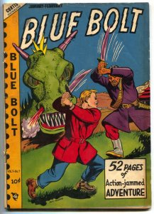 Blue Bolt Vol 9 #7 1949- Monster cover- Golden Age VG+