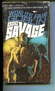 DOC SAVAGE-WORLDS FAIR GOBLIN-#39-ROBESON-G-JAMES BAMA COVER-1ST EDITION G