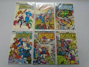 Official Marvel Index to the Avengers SET #1- #7 avg 8.0 VF (1987)