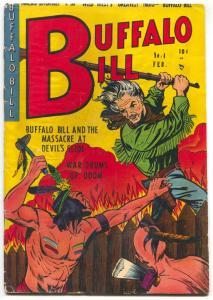 Buffalo Bill #4 1951- Golden Age Western- Chief Crazy Horse VG