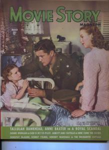 Movie Story-Andrea King-Dennis Morgan-Tallulah Bankhead-March-1945