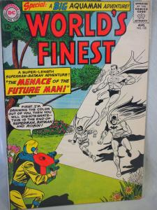World's Finest 135 in VG condition.  1963 The Menace of the Future Man.