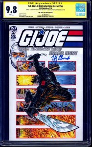 G.I. Joe #266 VARIANT CGC SS 9.8 signed ORIGINAL Storm Shadow Sketch signed x2