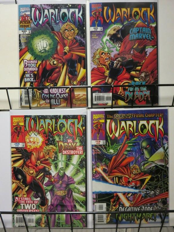 WARLOCK  (1998) 1-4  Captain Marvel  Drax The Destroyer