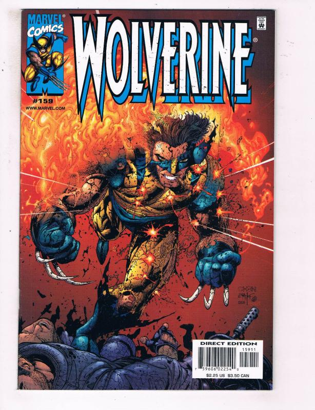Wolverine #159 VF Marvel Comics Comic Book X Men Feb 2001 DE24