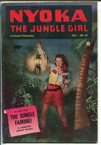 NYOKA THE JUNGLE GIRL #57 1951-FAWCETT-PHOTO COVER-GOOD GIRL ART-fn minus