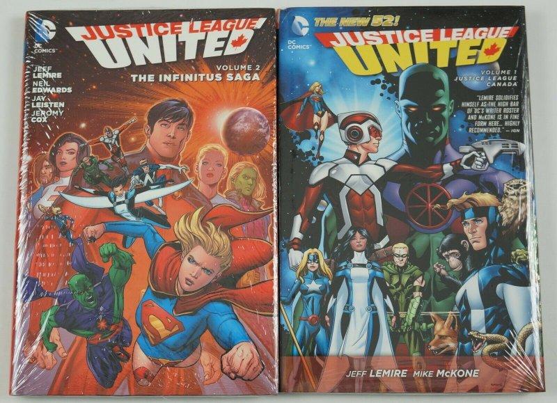 Justice League United HC #1-2 VF/NM complete series - DC jeff lemire mike mckone