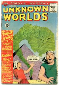 Unknown Worlds #11 1961- Egyptology/Pyramid cover FAIR