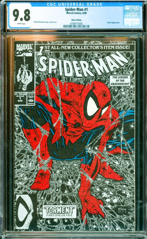 Spider-Man #1 CGC Graded 9.8 Lizard appearance.