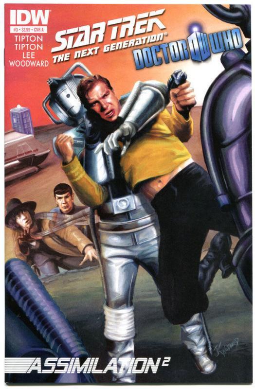 STAR TREK DOCTOR WHO Assimilation 2 #3 A, NM, Cybermen, Borgs,2012,more in store