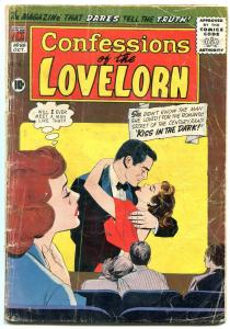 CONFESSIONS OF THE LOVELORN #98 1958- THEATER COVER G-