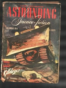 Astounding Science Fiction 11/1944-Killdozer by Theodore Sturgeon famous st...