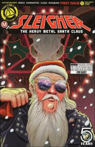 Sleigher: The Heavy Metal Santa Claus #1B VF/NM; Action Lab   save on shipping -