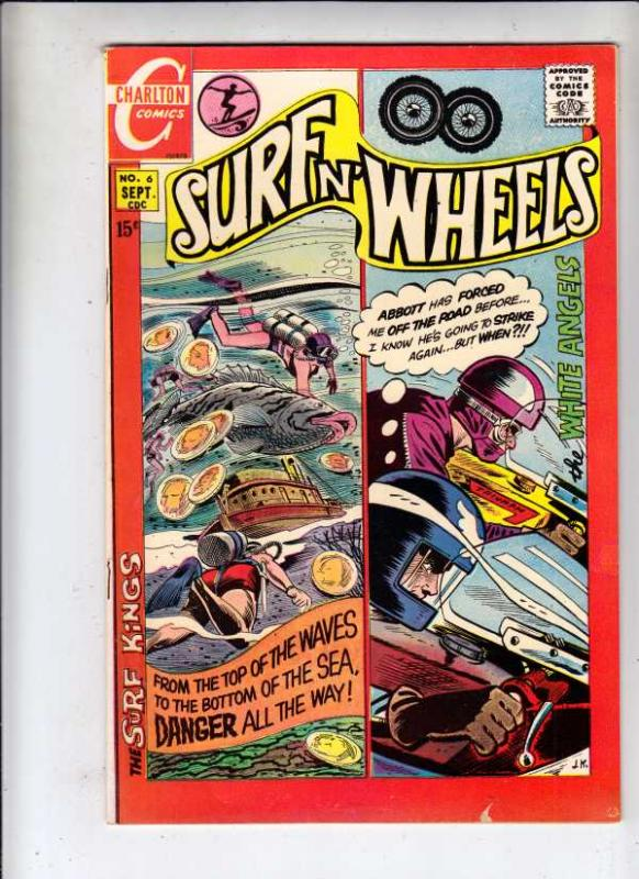 Surfn' Wheels #6 (Sep-70) FN/VF+ High-Grade Surf King, White Angels