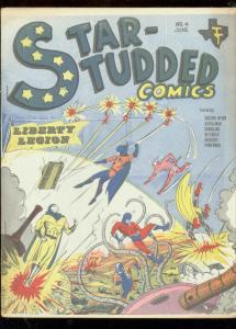 STAR-STUDDED COMICS #4--FANZINE-LIBERTY LEGION-DR WEIRD FN