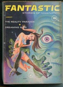 Fantastic 1/1961-Ziff-Davis-Alex Schomburg cover-bizarre-VG