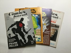 Comics Journal 70-75 Lot Magazine Very Fine- Vf- 7.5 Pacific Comics