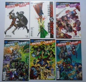 Justice League vs. Suicide Squad Set:#1-6 some variants average 8.5 VF+ (2016)