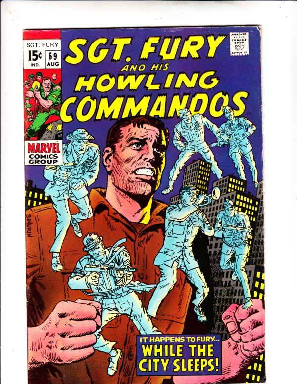 Sgt. Fury and His Howling Commandos #69 (Aug-69) VF High-Grade Sgt. Fury, How...