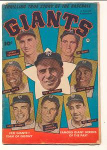 Thrilling True Story of the Baseball Giants #1, VG (Actual scan)