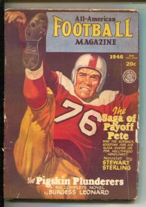 All-American Football 2nd Fall 1946-George Gross football kicker cover-Notre ...