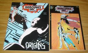 Heroines Inc #1-2 FN/VF complete series - bill sienkiewicz - avatar comics set
