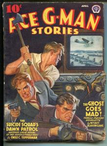 Ace G-Men Stories 4/1942-Thrilling-Suicde Squad cover-Ghost-pulp-TV-VG/FN