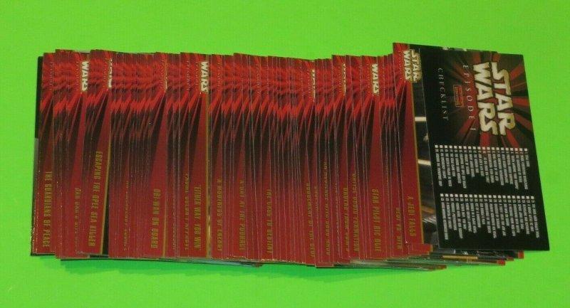 Complete Mint Set!! Star Wars 1-80 Episode 1 Trading Card Set Anakin Skywalker