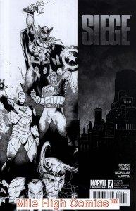 SIEGE (2010 Series)  (MARVEL) #1 SKETCH CV Very Good Comics Book