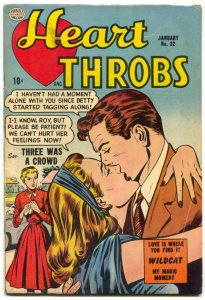 Heart Throbs #32 1955- Golden Age Romance- Wildcat VG