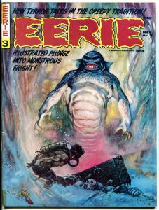 Eerie #3 1966- Frank Frazetta cover-Warren Horror Magazine VG/F