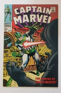 Captain Marvel #7 FN 6.0 (1968) Marvel Silver Age! The Coming Of Quasimodo!