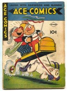 Ace Comics #90 1944- Phantom- Jungle Jim glue G/VG
