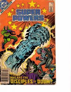 Lot Of 4 Super Powers DC Comic Books #1 2 3 5  BH54