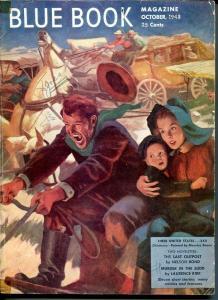 BLUE BOOK PULP-OCT 1948-VG-BOWER COVER-JOEL REEVE-NELSON BOND-BRANDON VG