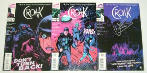 Croak #1-3 VF/NM complete series - camping/swamp horror - signed - alterna comic