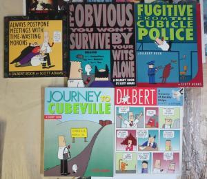 Dilbert Comics TPB Lot of 5 by Scott Adams Escape Office Drudgery + Laugh