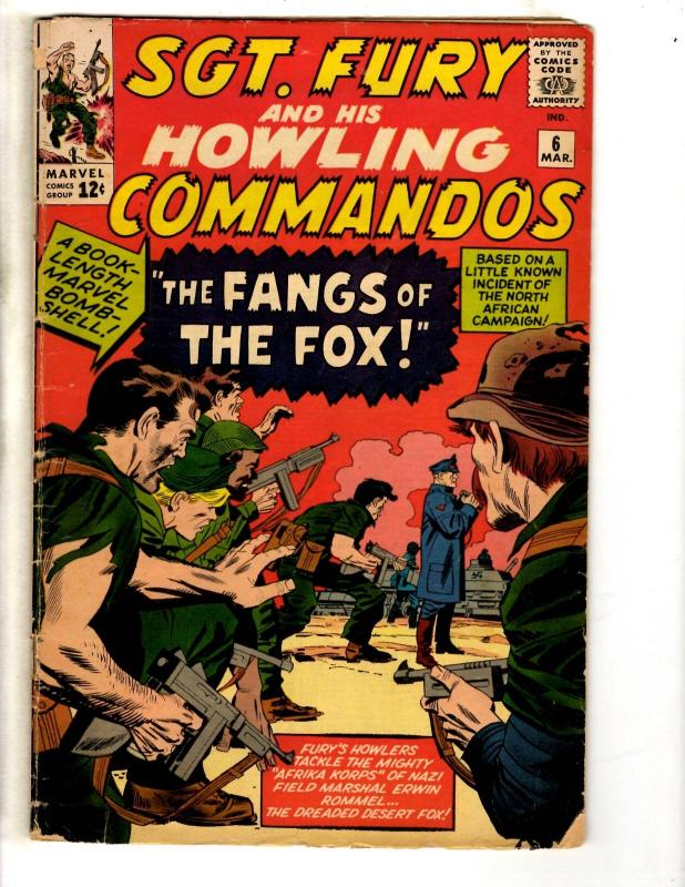Sgt. Fury & His Howling Commandos # 6 VG Marvel Comic Book Silver Age J306