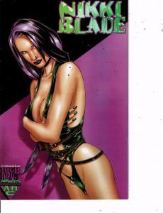 Lot Of 2 Comic Books High Impact Nikki Blade #1 and DzL Motorbike Puppies #1MS12