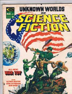 Unknown Worlds Of Science Fiction # 2 VG Curtis Magazine Comic Book Kaluta J115
