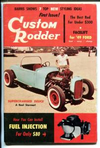 CUSTOM RODDER #1-05-1957-HOT RODS-DRAG RACING-GEORGE BARRIS-SOUTHERN STATES-fn