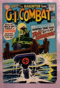 G.I. COMBAT #136 1969- THE HAUNTED TANK VS SUBMARINE-DC VG