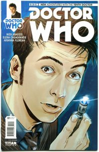 DOCTOR WHO #1, VF+, 10th, Tardis, 2014, Titan, 1st, more DW in store, Sci-fi