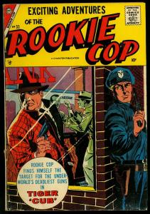 Rookie Cop #33 1957- Charlton Comics - Crime Tiger Cub G