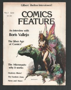 Comics Feature #3 /1980-Boris Vallejo fantasy cover-Silver Age comics-MIcrona...