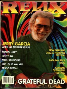 Relix 8/1996-Annual Jerry Garcia Tribute Issue-New Orleans Jazz Festival-G/VG