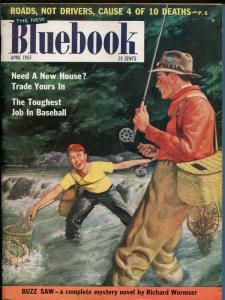 BLUEBOOK 4/1955-HARD BOILED PULP-JOHN D MACDONALD-JOHN PRENTICE ART-fn