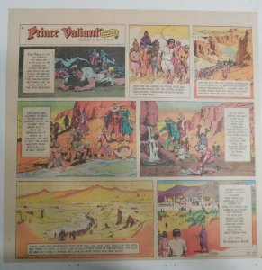 Prince Valiant Sunday #1609 by Hal Foster from 12/10/1967 2/3 Full Page Size !