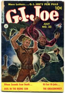 G.I. Joe #33 1954- Norman Saunders cover- Korean War comic G/VG